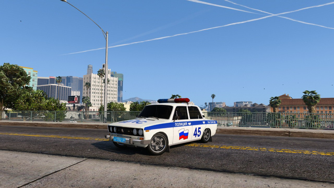 ВАЗ 2106 Полиция для GTA V - Скриншот 1