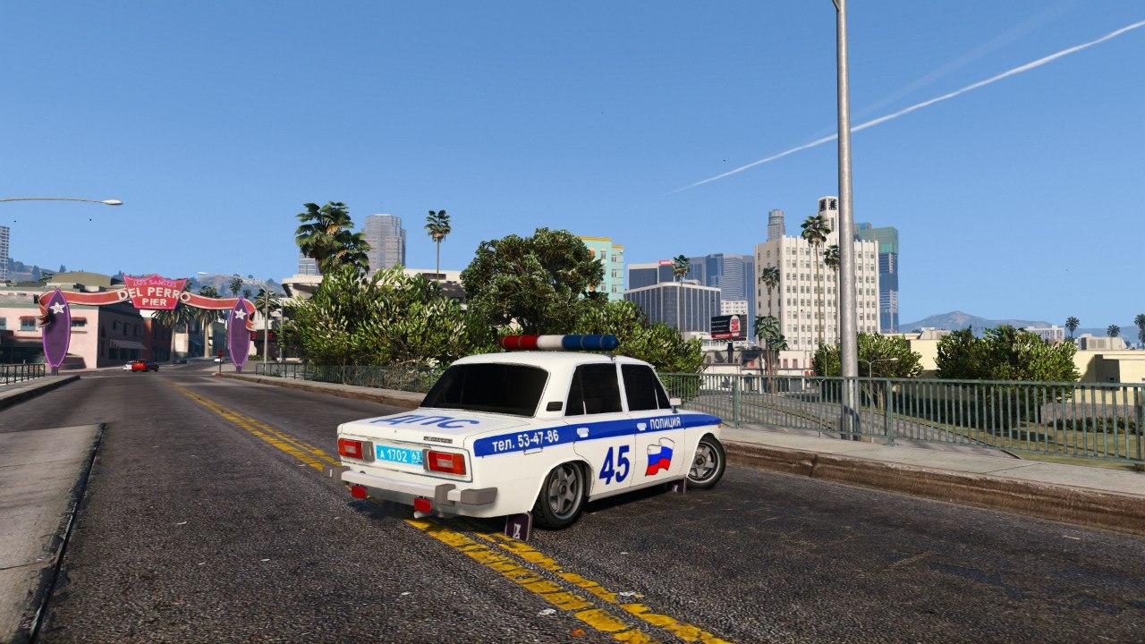 ВАЗ 2106 Полиция для GTA V - Скриншот 2
