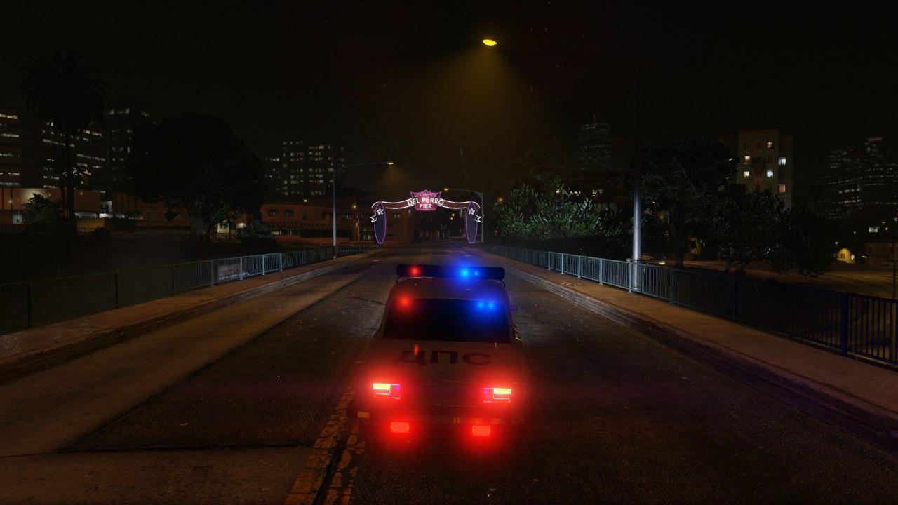 ВАЗ 2106 Полиция для GTA V - Скриншот 3