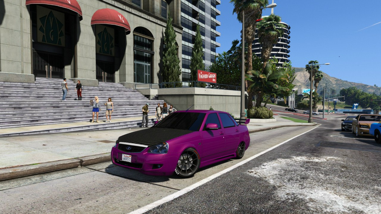 Lada Priora (Tuned) v2 для GTA V - Скриншот 1