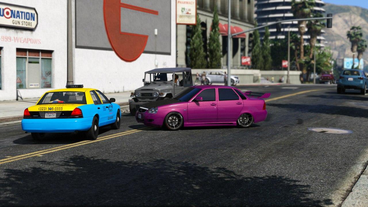 Lada Priora (Tuned) v2 для GTA V - Скриншот 2