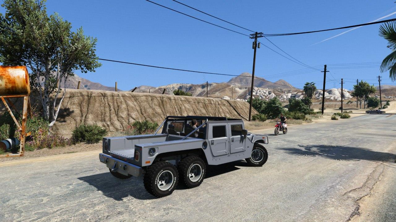 Hummer H1 6X6 v2.3 для GTA V - Скриншот 2