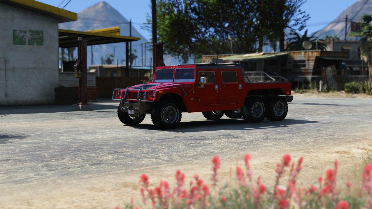 Hummer H1 6X6 v2.3 для GTA V - Скриншот 3