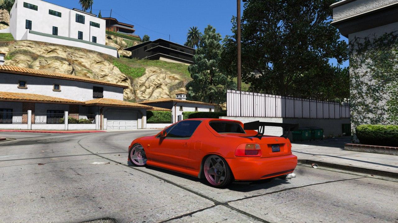 Honda CRX Del Sol для GTA V - Скриншот 1