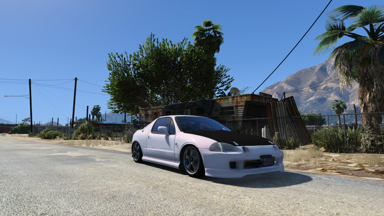 Honda CRX Del Sol для GTA V - Скриншот 3