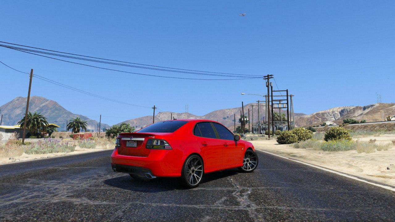 SAAB 9-3 Turbo X для GTA V - Скриншот 2