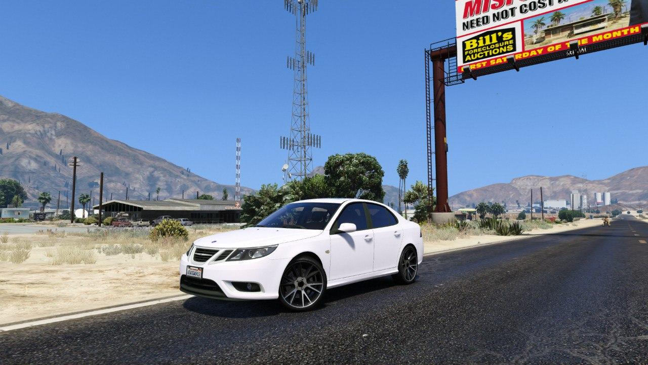 SAAB 9-3 Turbo X для GTA V - Скриншот 3