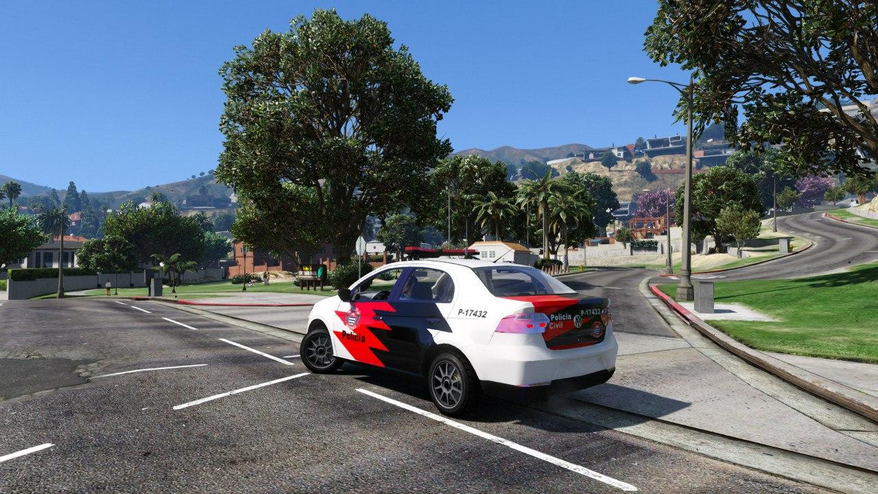 Volkswagen Voyage Políce для GTA V - Скриншот 2