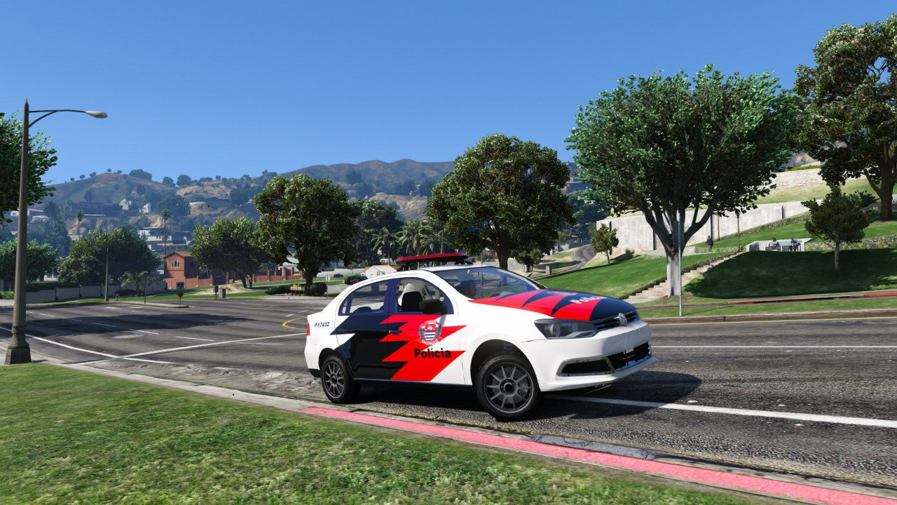 Volkswagen Voyage Políce для GTA V - Скриншот 3