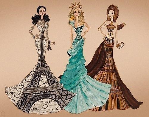 милые нарисованные девушки:
