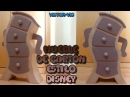 Mueble de cartón estilo Disney para decoración infantil. DIY manualidades con cartón