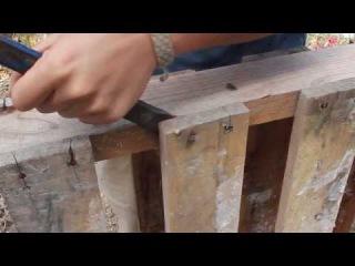 Cómo desmontar un Pallet