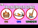 In On Under Song Prepositions in English grammar for children elearnin