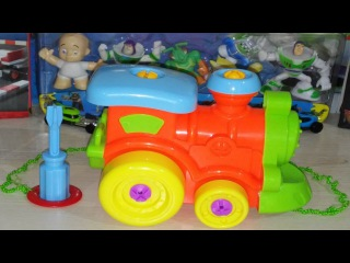 VIDEO FOR CHILDREN - Train Toy Constructor. DISNEY TOY TRAIN. ПАРОВОЗИК. Конструктор.