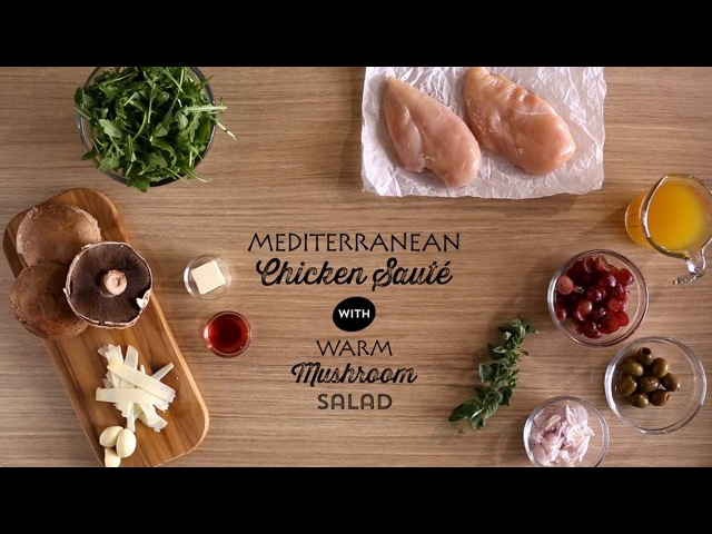Publix Aprons Cooking School: Mediterranean Chicken Saute with Warm Mushroom Salad
