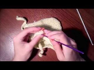 Вязаная шапка для ребенка, крючком 3  часть(0-3 мес)