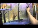 Видео урок живописи маслом Сумеречный парк Картина за 3 часа Игорь Сахаров