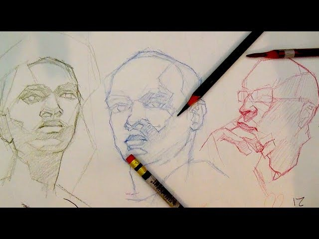 How to Draw Portraits The Head | How to block-in a portrait or the head