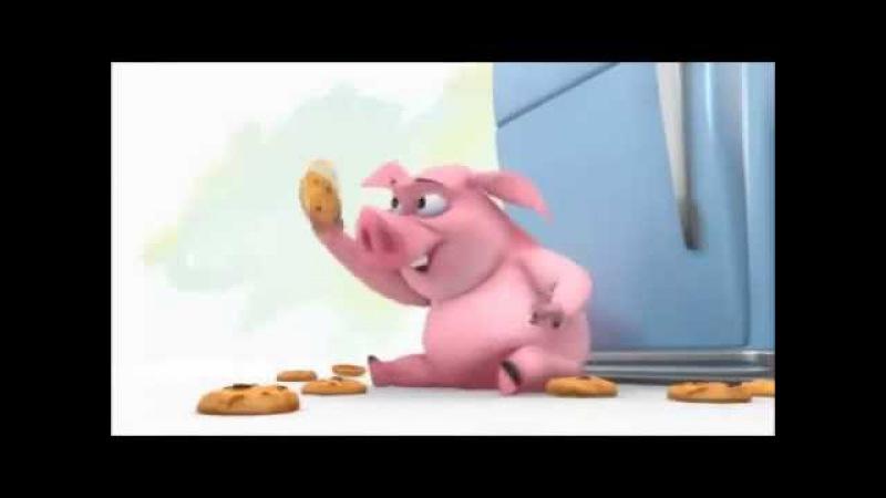 Самый прикольный мультик про свинью и ее любовь к еде