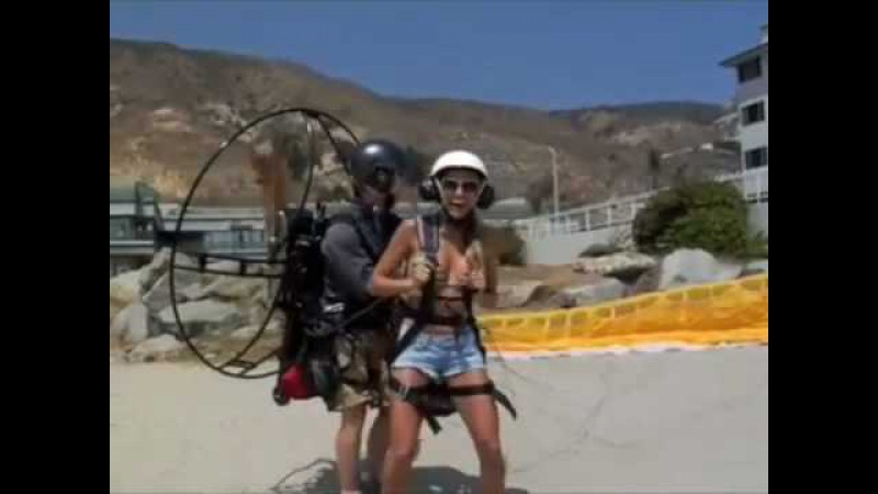 Getup powered Paragliding video from the beach on HDnet