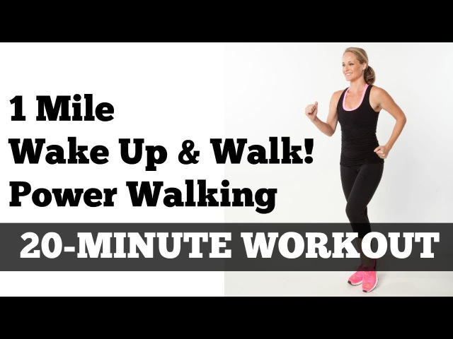1 Mile Walk Fast | Low Impact Indoor Power Walking Workout Wake Up and Walk!