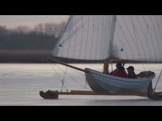 "Ice yachting with ""Poolvos III"" on the ""Westeinderplassen"", Netherlands in HD"