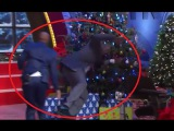 Hilarious Cras Kenny sends Shaquille O'Neal into the Christmas Tree - Video HD