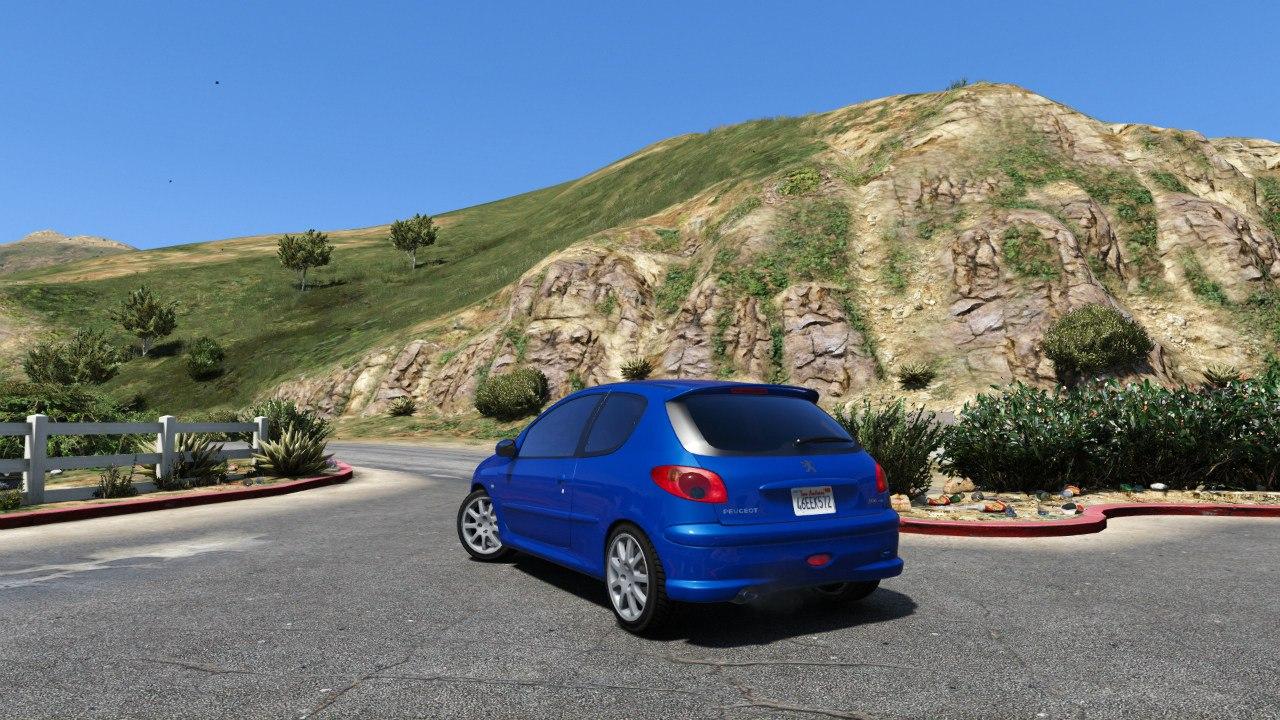 Peugeot 206 GTi v1.1 для GTA V - Скриншот 2