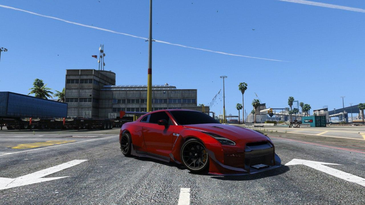 Nissan GT-R R35 [RocketBunny] v1.0 для GTA V - Скриншот 1