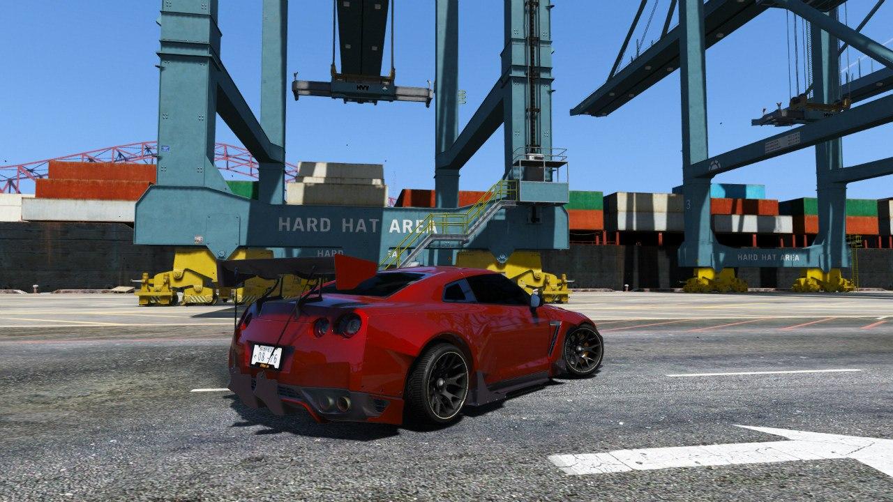 Nissan GT-R R35 [RocketBunny] v1.0 для GTA V - Скриншот 2