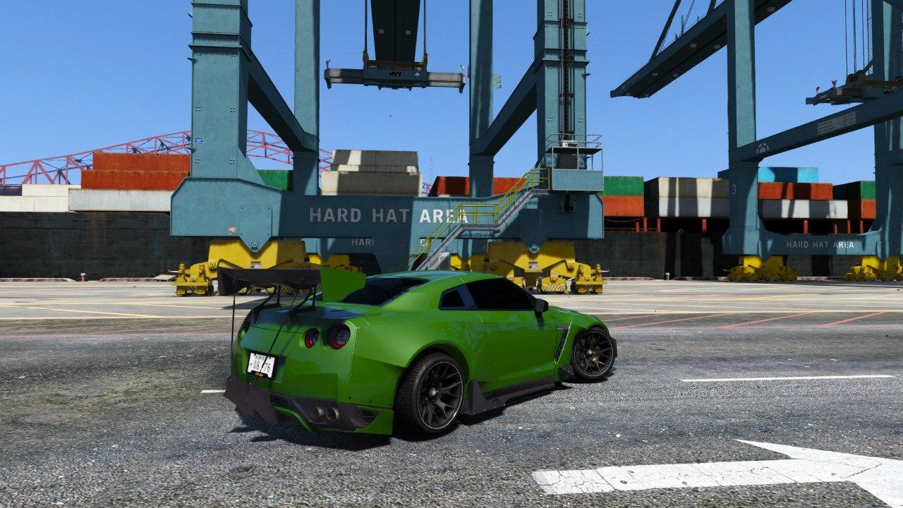 Nissan GT-R R35 [RocketBunny] v1.0 для GTA V - Скриншот 3