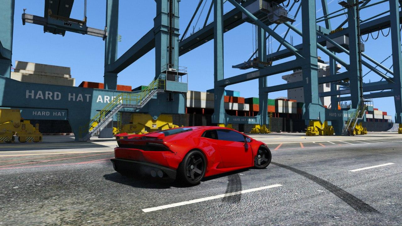 Lamborghini Huracan [LibertyWalk] v1.0 для GTA V - Скриншот 1