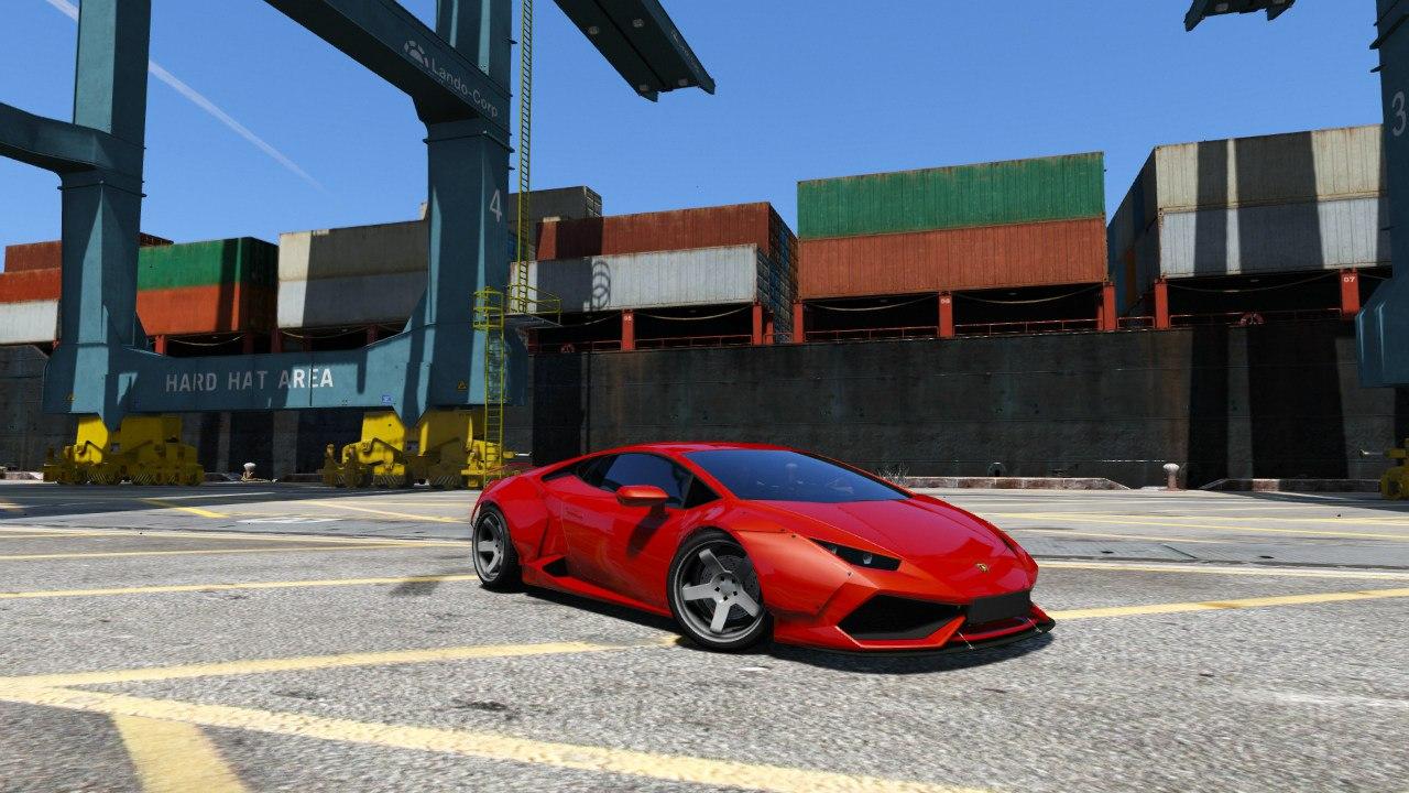 Lamborghini Huracan [LibertyWalk] v1.0 для GTA V - Скриншот 2