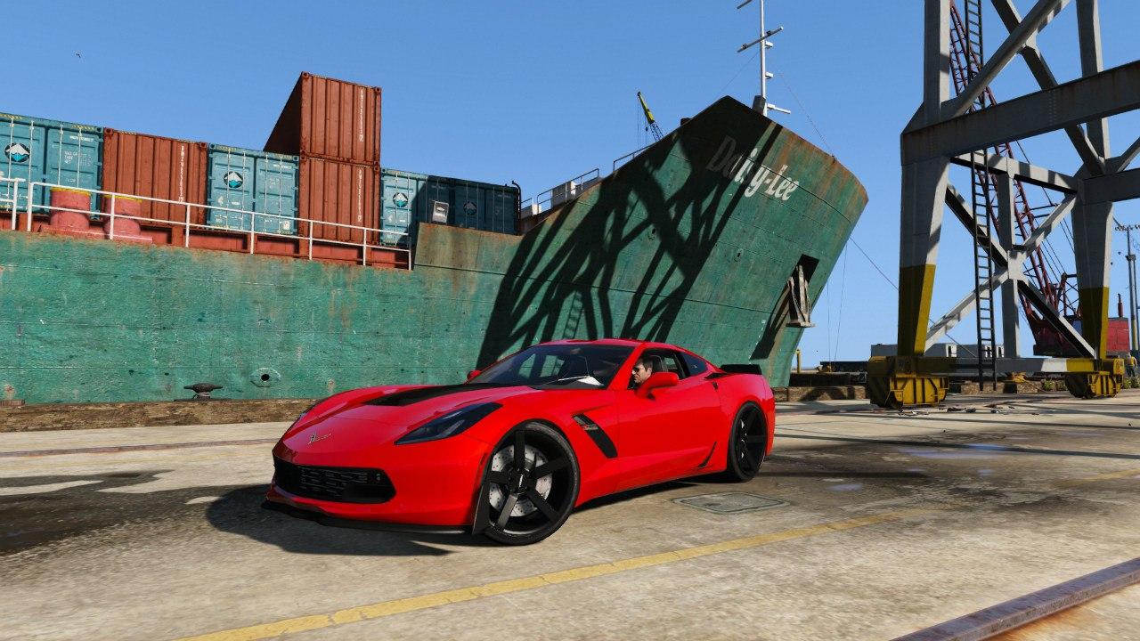 Chevrolet Corvette C7 Z06 для GTA V - Скриншот 1