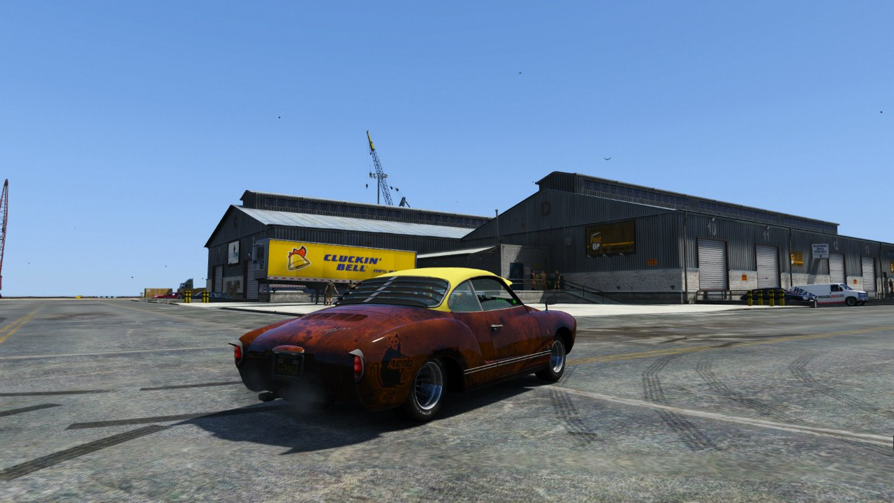 Volkswagen Karmann Ghia 67 (Slammed Rat) для GTA V - Скриншот 2