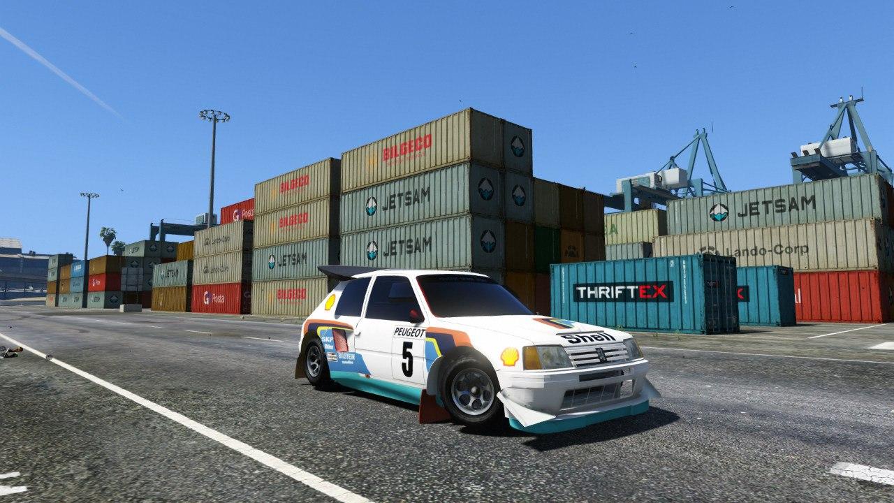 Peugeot 205 T16 для GTA V - Скриншот 1