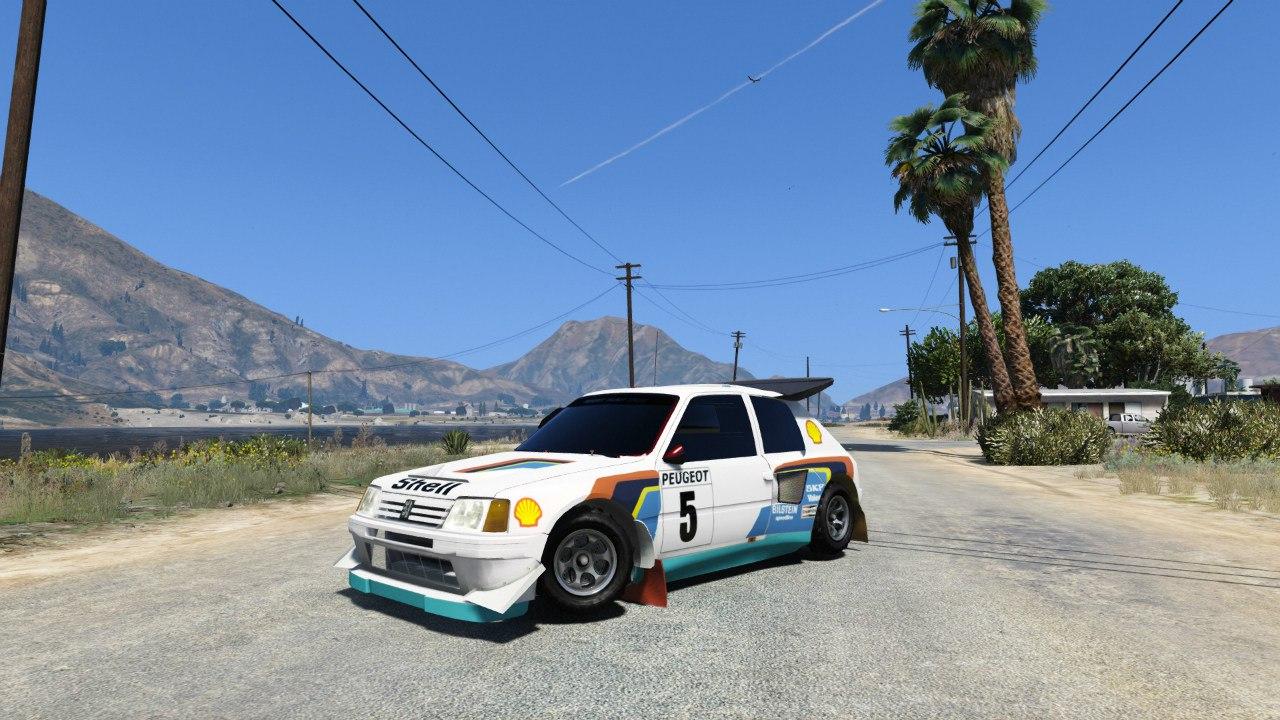 Peugeot 205 T16 для GTA V - Скриншот 3