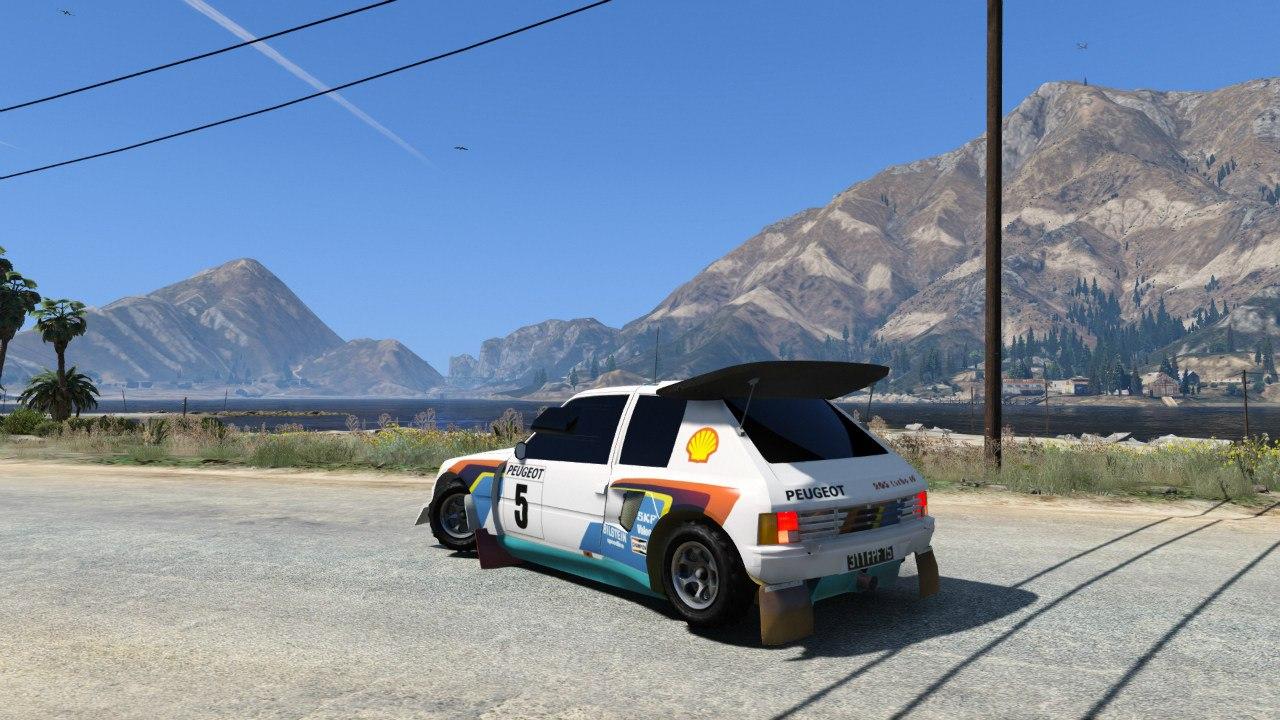 Peugeot 205 T16 для GTA V - Скриншот 2
