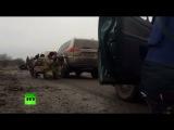 RAW: Sniper convoy crossfire - RT reporters in E. Ukraine