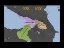 Как на протяжении последних 1000 лет менялись границы Грузии.