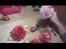Мастер-класс Роза из ткани в японской технике полный