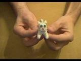 Поделка кошка из пластилина Handicraft cat from plasticine