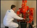 Штукатурка стен машинным способом Машины для оштукатуривания стен PFT