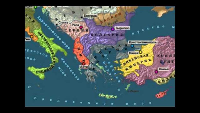Анимированная карта 8 крестовых походов