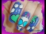 Invader Zim - GIR Nails!