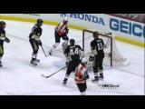 Claude Giroux goal. Philadelphia Flyers vs Pittsburgh Penguins 4/13/12 NHL Hockey