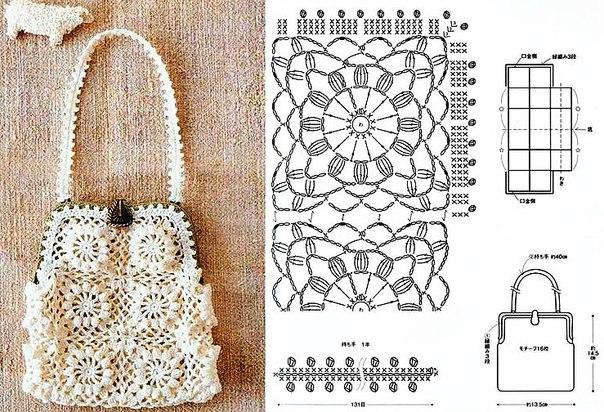 Красивая сумочка крючком схема