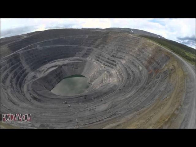 Самый большой в России золотодобывающий карьер Восточный ЗК Полюс