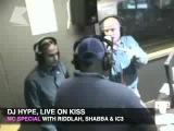 DJ Hype, MC Riddlah, MC Shabba, MC IC3 live @ radio KISS100