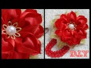 D.I.Y. Heart Shaped Petal Kanzashi Valentine's Day Flower | MyInDulzens